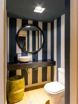Departamento en La Cuesta : Baños de estilo rústico por Interiores B.AP