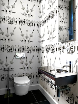 Guest W.C: modern Bathroom by deborah garth interior design