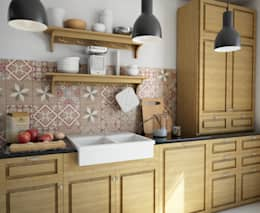 Cocinas de estilo rústico por olivia Sciuto