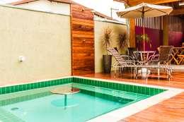 Spa de estilo topical por Bianca Ferreira Arquitetura e Interiores