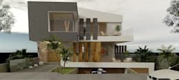 Estudio de Texturas - Visualización de proyecto: Casas de estilo moderno por CASTELLINO ARQUITECTOS (+)