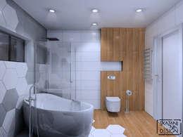حمام تنفيذ SKAZANI NA DESIGN Studio Architektury