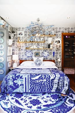 VISI 84 July Feature 2016: eclectic Bedroom by The Painted Door Design Company