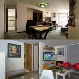 Sala:  de estilo  por Bloque B Arquitectos