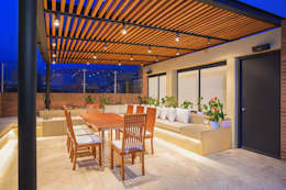 Apto Cr 19 - Cll 88: Terrazas de estilo  por Bloque B Arquitectos