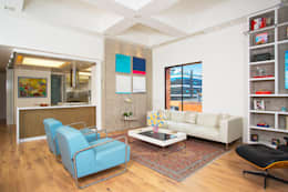 Apto Cr 19 - Cll 88: Salas de estilo moderno por Bloque B Arquitectos