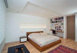 Apto Cr 19 - Cll 88: Habitaciones de estilo moderno por Bloque B Arquitectos