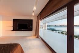 Abstracción Líquida: Dormitorios de estilo moderno por CIBA ARQUITECTURA