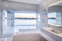 Abstracción Líquida: Baños de estilo moderno por CIBA ARQUITECTURA