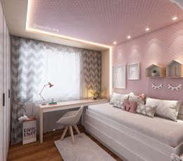 Dormitorios infantiles de estilo escandinavo por Marilia Zimmermann Arquitetura e Interiores