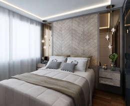 غرفة نوم تنفيذ Marilia Zimmermann Arquitetura e Interiores