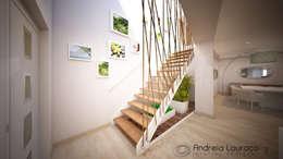 Pasillos y vestíbulos de estilo  por Andreia Louraço - Designer de Interiores (Contacto: atelier.andreialouraco@gmail.com)