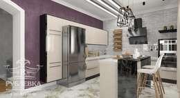 Cocinas de estilo industrial por мастерская интерьера РУБЛЕВКА / workshop interior RUBLEVKA