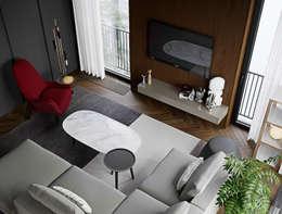 Livings de estilo ecléctico por ATO Studio