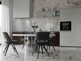 "ЖК ""Esentai City"" Апартаменты 1-04: Кухни в . Автор – ATO Studio"
