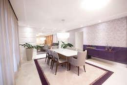 Sala de estar: Salas de jantar ecléticas por Haus Brasil Arquitetura e Interiores