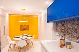 Cozinha : Cozinhas ecléticas por Haus Brasil Arquitetura e Interiores