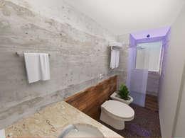 Suíte Estilo Industrial: Banheiros industriais por Andressa Cobucci Estúdio