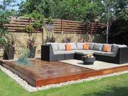Jardines de estilo moderno por Christine Wilkie Garden Design