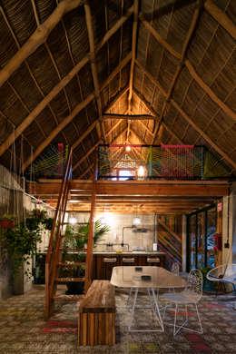 tropical Dining room by MORADA CUATRO