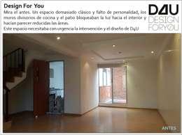 Remodelación zona social casa en Bogotá:  de estilo  por Design For You SAS