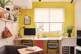 ห้องทำงาน/อ่านหนังสือ by 一葉藍朵設計家飾所 A Lentil Design