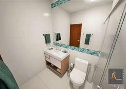 modern Bathroom by Ao Cubo Arquitetura e Interiores