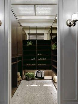 英式古典情挑:  通道 & 走廊 by 大荷室內裝修設計工程有限公司