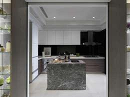 浪漫的歸屬:  廚房 by 大荷室內裝修設計工程有限公司