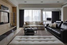 Salas / recibidores de estilo moderno por 大荷室內裝修設計工程有限公司