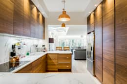 Abbeville Road: modern Kitchen by Orchestrate Design and Build Ltd.