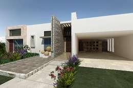 Residencia El Molino Club de Golf: Casas de estilo moderno por HF Arquitectura