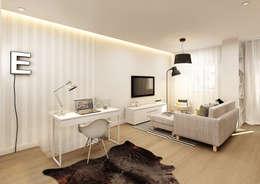 minimalistic Living room by Vera Correia Design & Photography