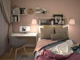 Projekty,  Sypialnia zaprojektowane przez КS-Interiors