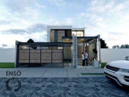 CASA HABITACIÓN - ASTORIA: Casas de estilo moderno por Enso Arquitectos