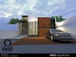 CASA FORTEZZA: Casas de estilo moderno por Enso Arquitectos
