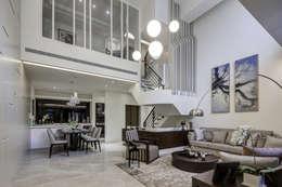 Projekty,  Salon zaprojektowane przez 大荷室內裝修設計工程有限公司