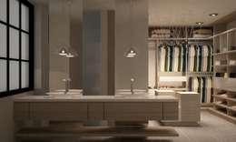Salle de bain de style de style Moderne par santiago dussan architecture & Interior design