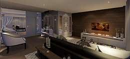 modern Living room by Lopes e Theisen Arquitetura