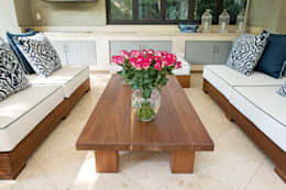 Outdoor covered patio:  Patios by Tru Interiors