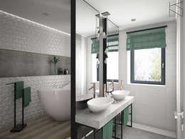 浴室 by KN.wnętrza