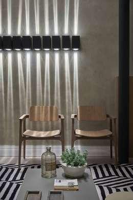 غرفة المعيشة تنفيذ Carmen Calixto Arquitetura