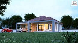 Projekty, nowoczesne Domy zaprojektowane przez Takuapa125
