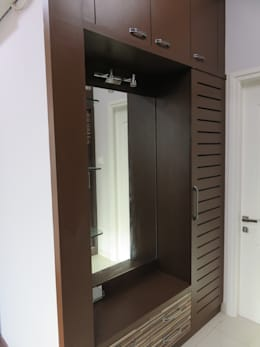 dressing unit inside dressing room: modern Bedroom by Bluebell Interiors