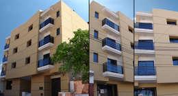 Vista Fachada: Casas de estilo moderno por Estudio Bono-Sanmartino