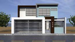 Fachada Principal : Casas de estilo moderno por Lentz Arquitectura Diseño y Construcción