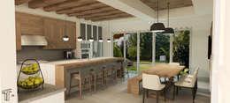 : Cocinas de estilo moderno por TAMEN arquitectura