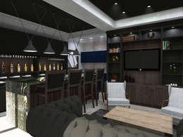 : Salas multimedia de estilo moderno por TAMEN arquitectura