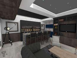 Salas de entretenimiento de estilo moderno por TAMEN arquitectura