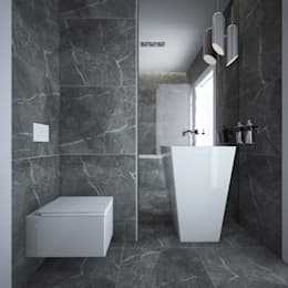 Baños de estilo minimalista por maakk studio